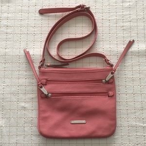 Liz Claiborne Peachy Pink Crossbody Bag